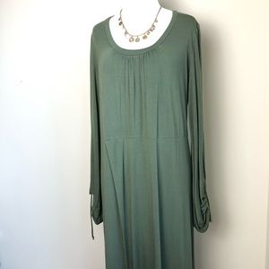 Free people beach green tunic dress